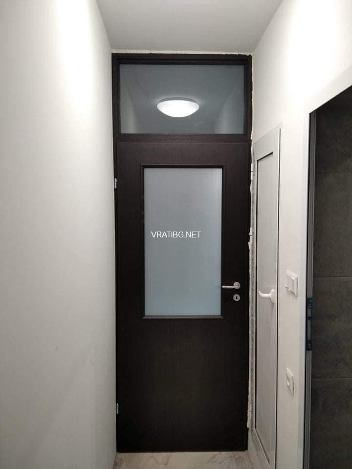 Монирана врата Натура Хард 3 с надстройка (прозорец отгоре)
