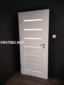 Монтирана врата Греко 3 бял ясен в наличност
